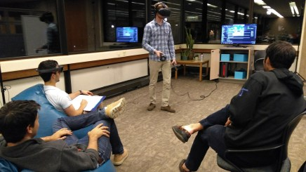Students using the VIVE and Hololens