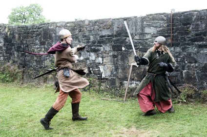 Ridder Maarten en ridder Glen in gevecht