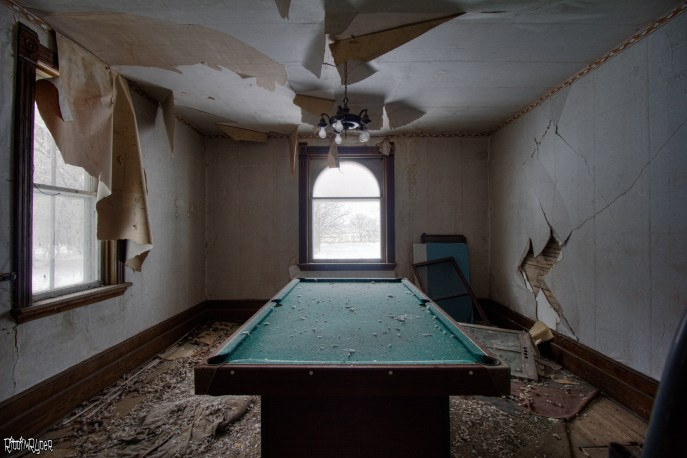 Abandoned Pool Table