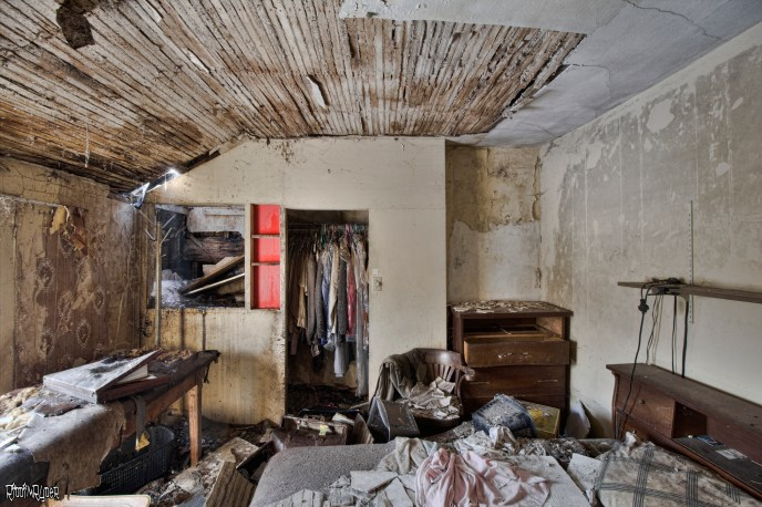 Bedroom of an abandoned house