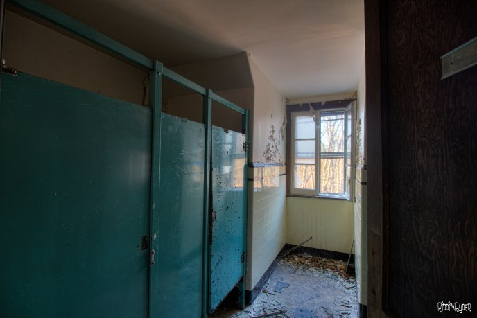Abandoned bathrooms in the abbey