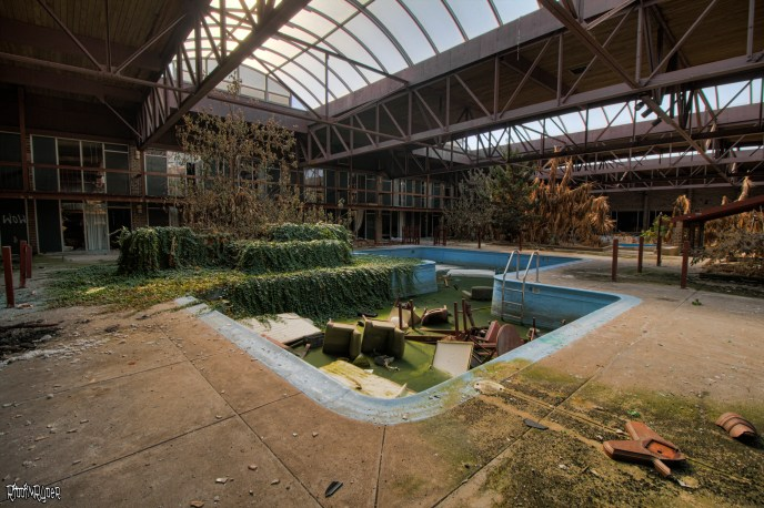 abandoned resort oasis