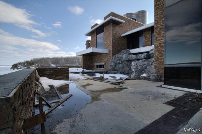 Lakefront abandoned mansion