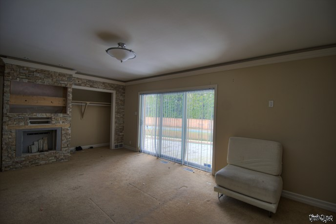 Abandoned master bedroom