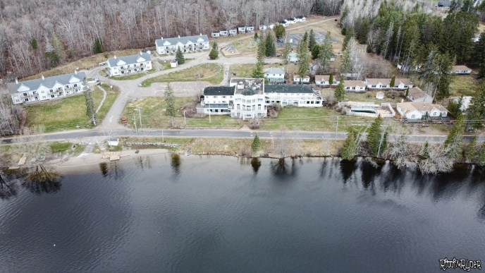 Drone view of the abandoned resort