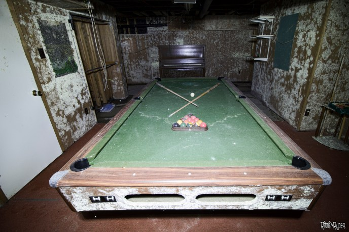 decayed pool table