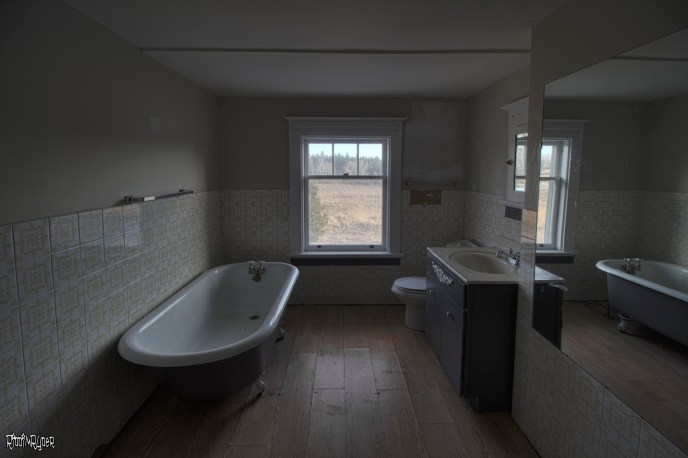 abandoned century home bathroom