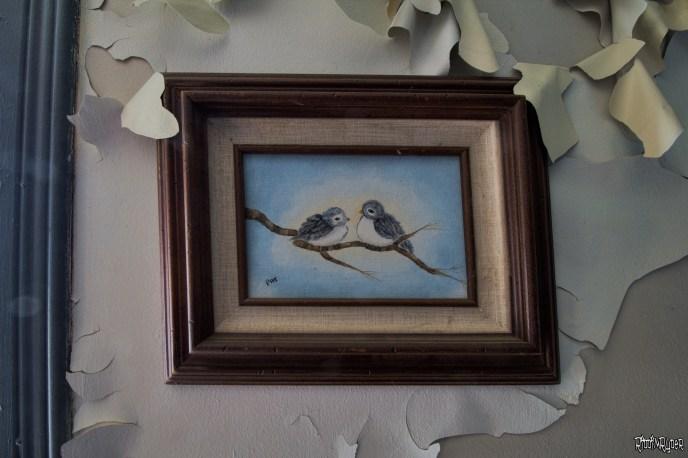 Decaying artwork