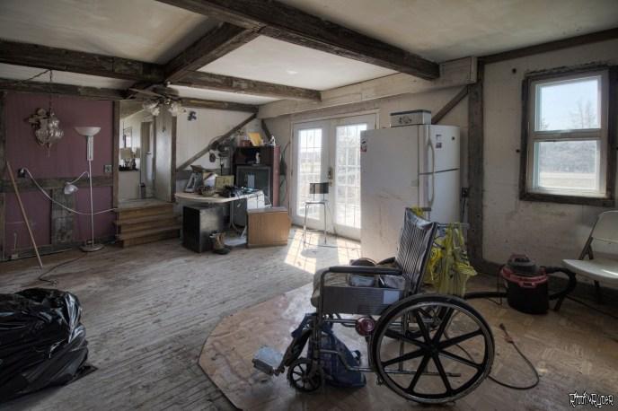 wheelchair in the kitchen