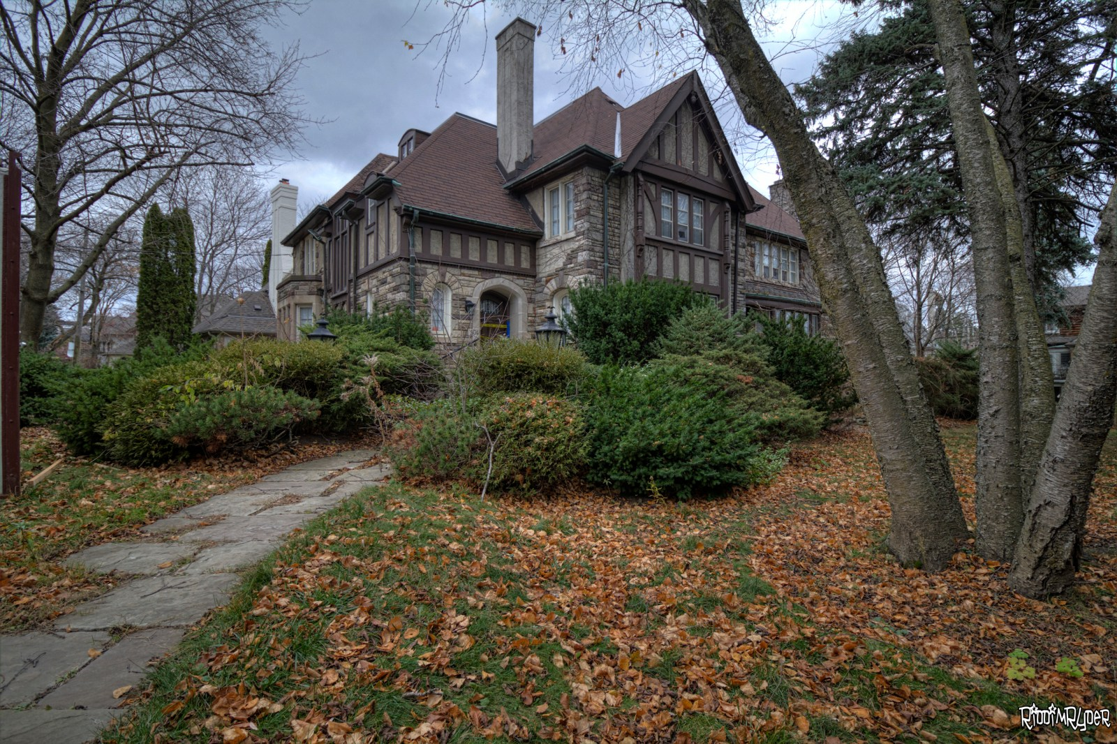 Vacant Tudor Revival Mansion