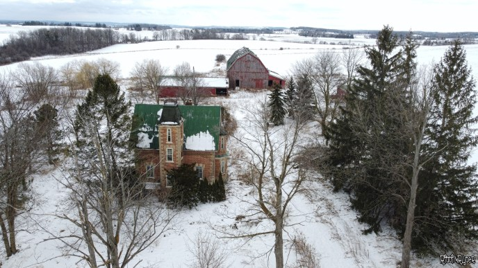 Drone Shots of the Abandoned House