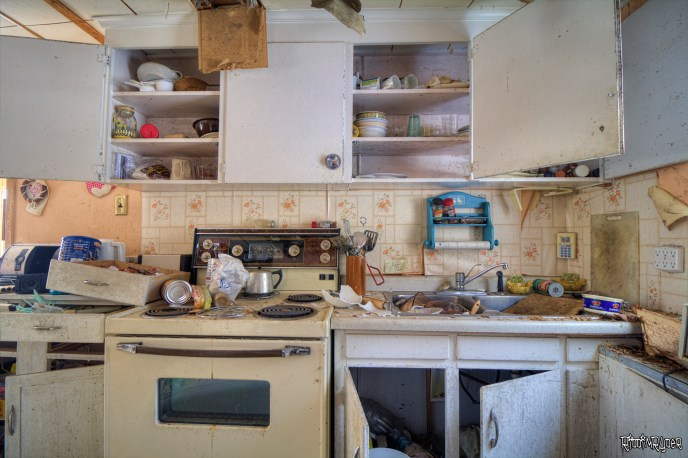 Abandoned Cabin Kitchen