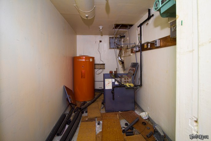 Abandoned mansion utility room