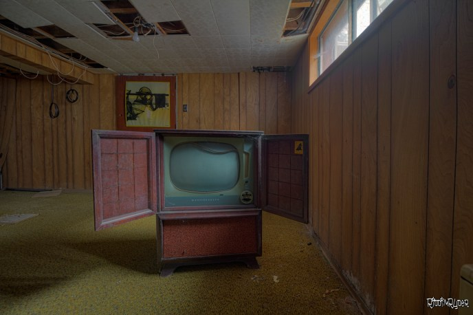 1960s abandoned television