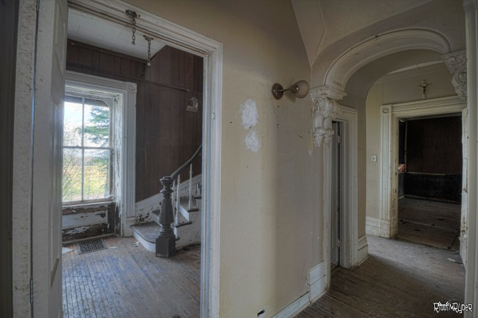 Corridor & stairs of the abandoned house
