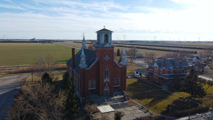 Drone views of the Abandoned Cathedral