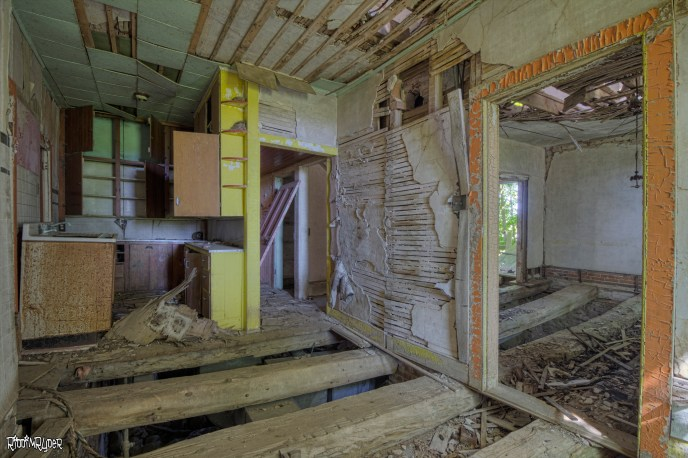 Missing Floors in an Abandoned House