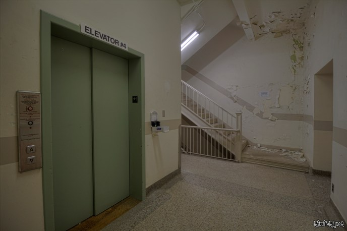 Elevator & Stairs Inside the Vacant Lakeside Hospital