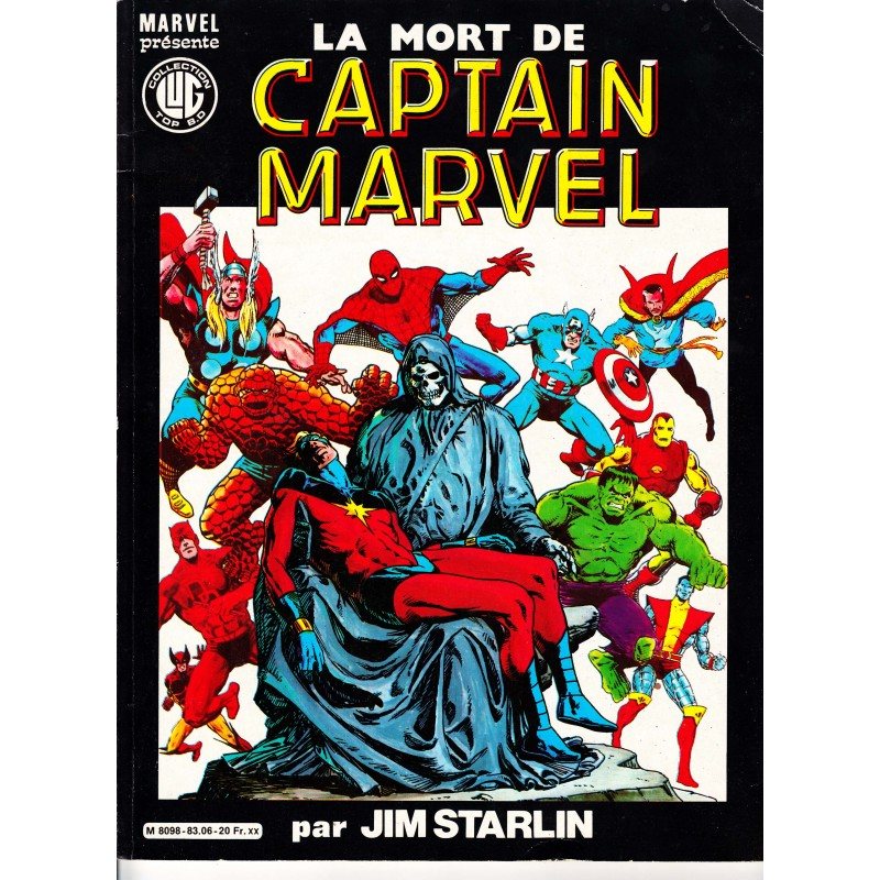 Comics Marvel : album La Mort de Captain Marvel - Le premier Graphic Novel Marvel.