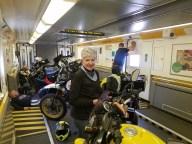 On board the Chunnel Train