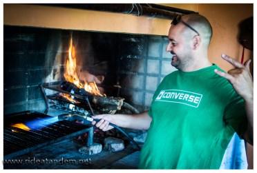 Richtig begeistert sind wir von dem Inhouse-BBQ. Keine Ahnung was ein holsteiner Schornsteinfeger dazu sagt, wir werden das erforschen.