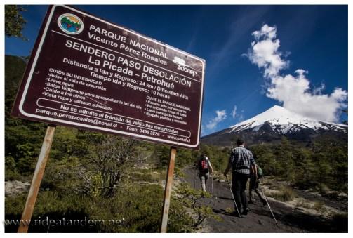 Einstieg Vulkan Osorno