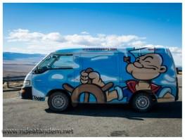 Popeye auf der Fahrerseite, da wo der Captain hingehört.