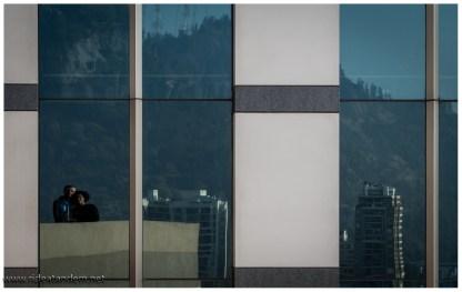 Im 19.Stock sich im gegenüberliegen Haus in einem Fenster zu spiegeln ist ein seltenes Vergnügen