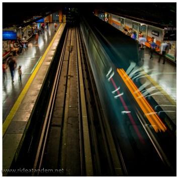 Die U-Bahn, unfassbar sauber