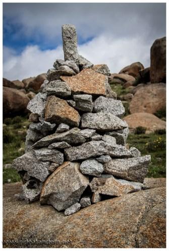 Gäbe es eine Weltmeisterschaft im Steinmännchen bauen, die Tibeter wären Titelaspirant Nr.1