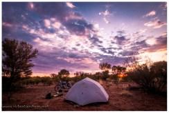 Unser neues Zelt und das australische Outback, eine super Kombination
