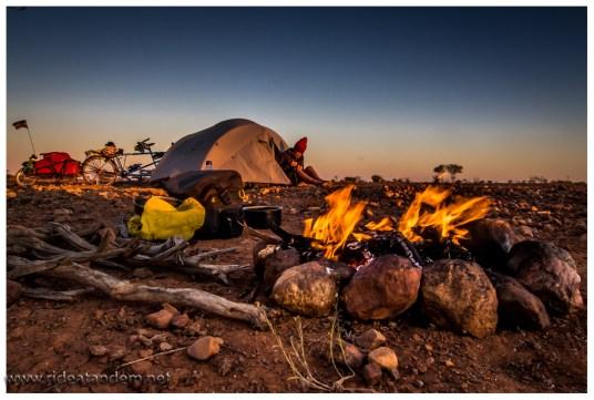 Outback-Übernachtung, wir lieben es.