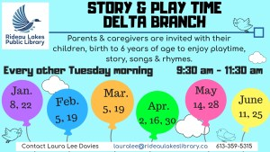 Information on kids programming at the Delta Branch.