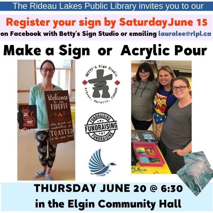 Make a sign or try Acrylic Pouring