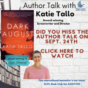 Author Talk with Katie Tallo. Click the image to watch the video