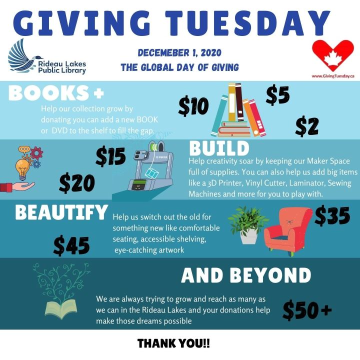 Giving Tuesday: poster promoting a global day of giving on Dec 1, 2020