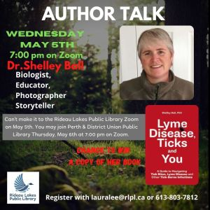 Author Talk with Shelley Ball contact lauralee@rlpl.ca