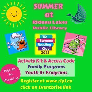 TD summer reading club registration