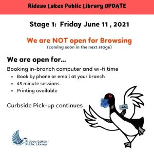Stage 1 Reopening details for June 11 2021