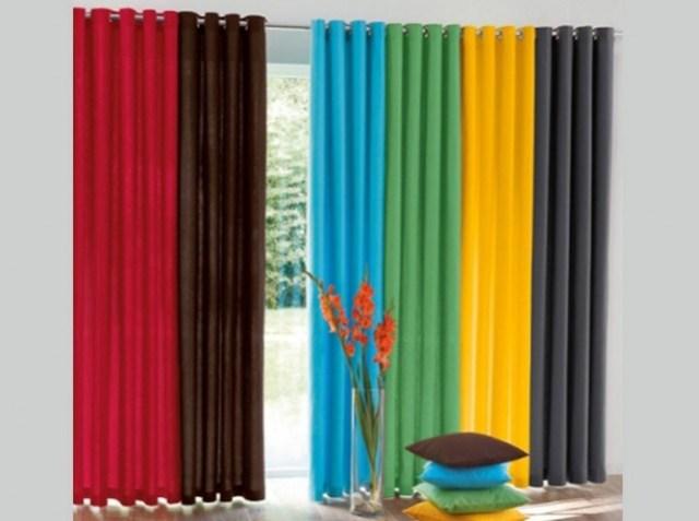 Rideaux design – esprit color block