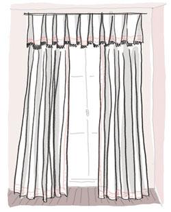 comment styler les rideaux rideaux pas cher. Black Bedroom Furniture Sets. Home Design Ideas