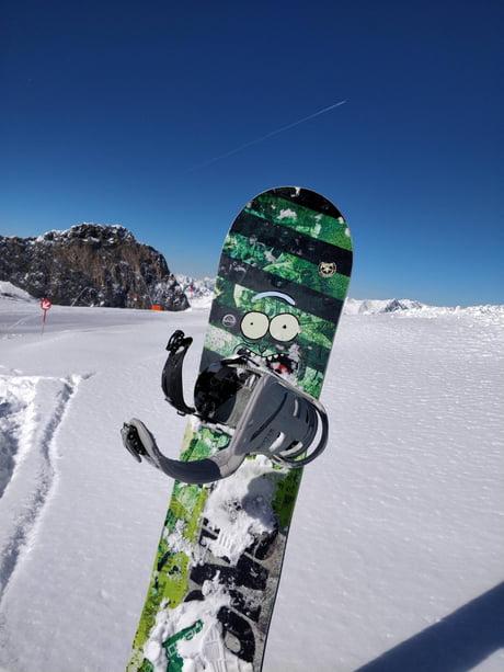 pickle rick snowboard