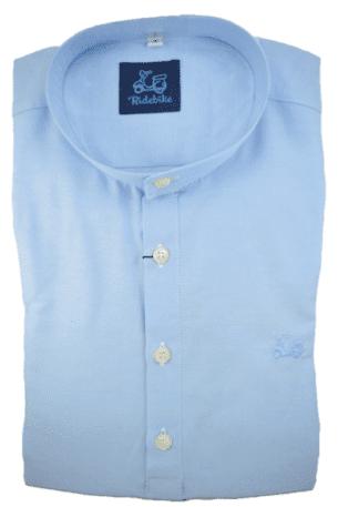 Camisa polera celeste Made in Spain