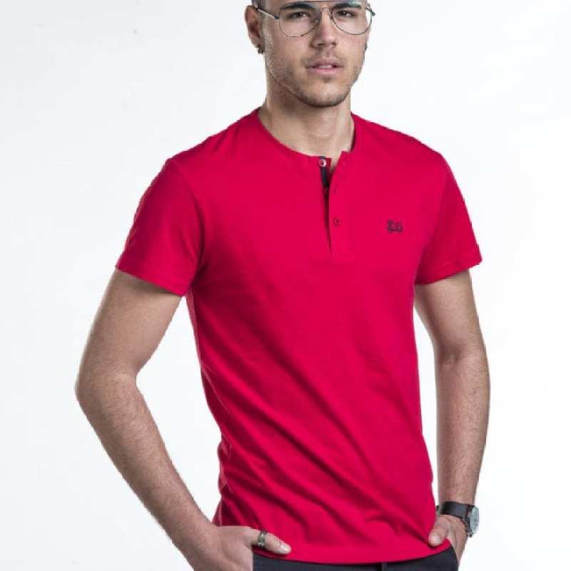 Camiseta básica cuello botón [+4 colores]