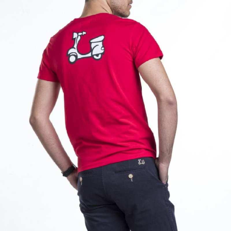 Camiseta básica estampado vespa en la espalda