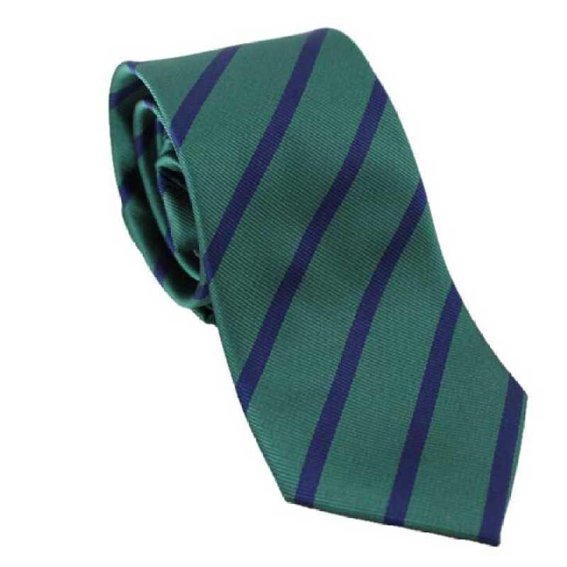 Corbata de rayas bicolor