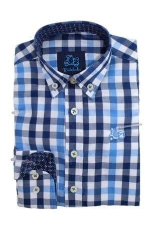 Camisa Niño de Cuadros Azules