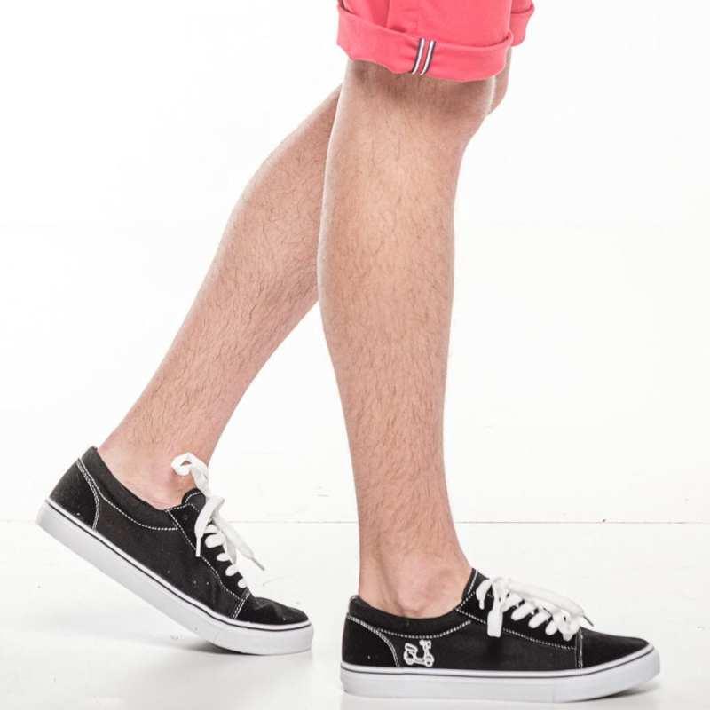 Zapatillas antelina negro
