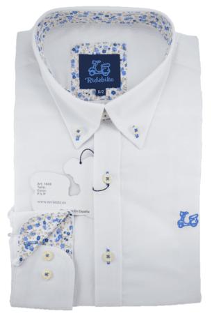 Camisa niño blanca clásica