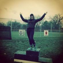 On the podium!